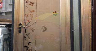 صورة ابواب حمامات الوميتال , احدث الديكورات لابواب الحمامات الالوميتال