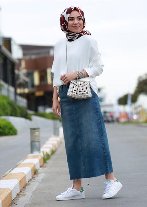 صورة اخر صيحات الموضة للمحجبات بالصور , احدث كوليكشنات لملابس المحجبات