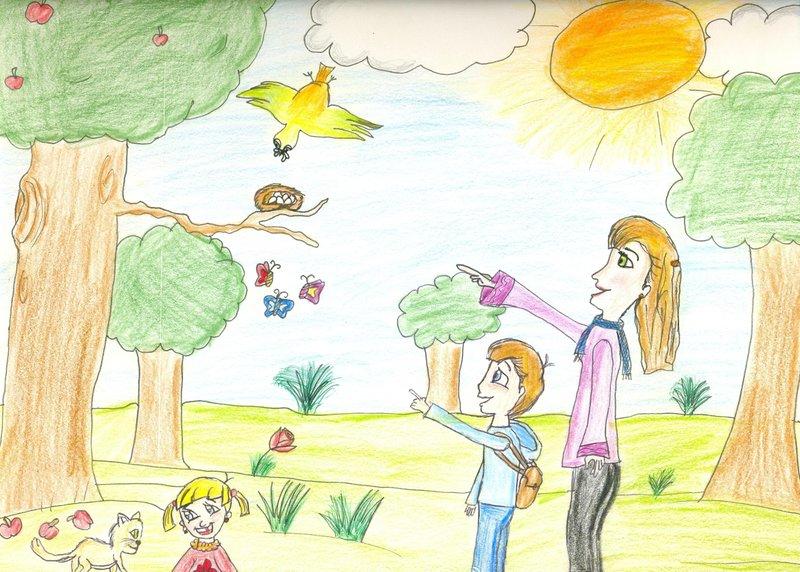 رسومات حول البيئة صور رسومات للحفاظ على البيئة اغراء القلوب