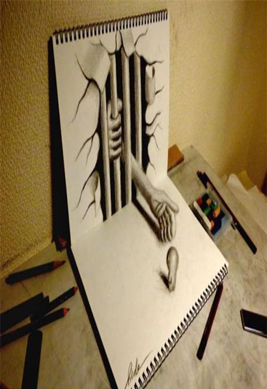 رسم ثلاثي الابعاد صور لرسومات مجسمة ثلاثية الابعاد اغراء القلوب