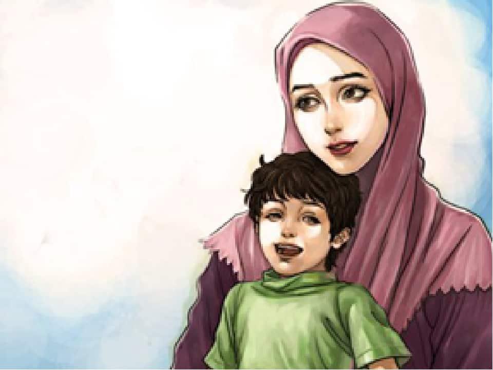 صورة مقدمة وخاتمة عن الام , لا تكفى الكلمات لوصف فضل امى