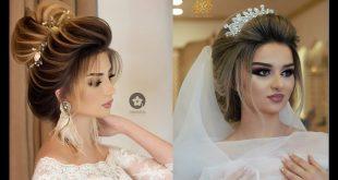 صورة مكياج وتسريحات عرايس , اجدد احلى تسريحات للعرائس