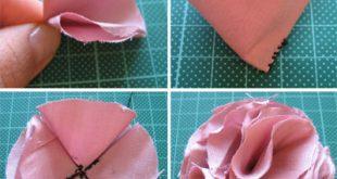 صور كيفية صنع الورود بالقماش , طريقة عمل ازهار بالقماش