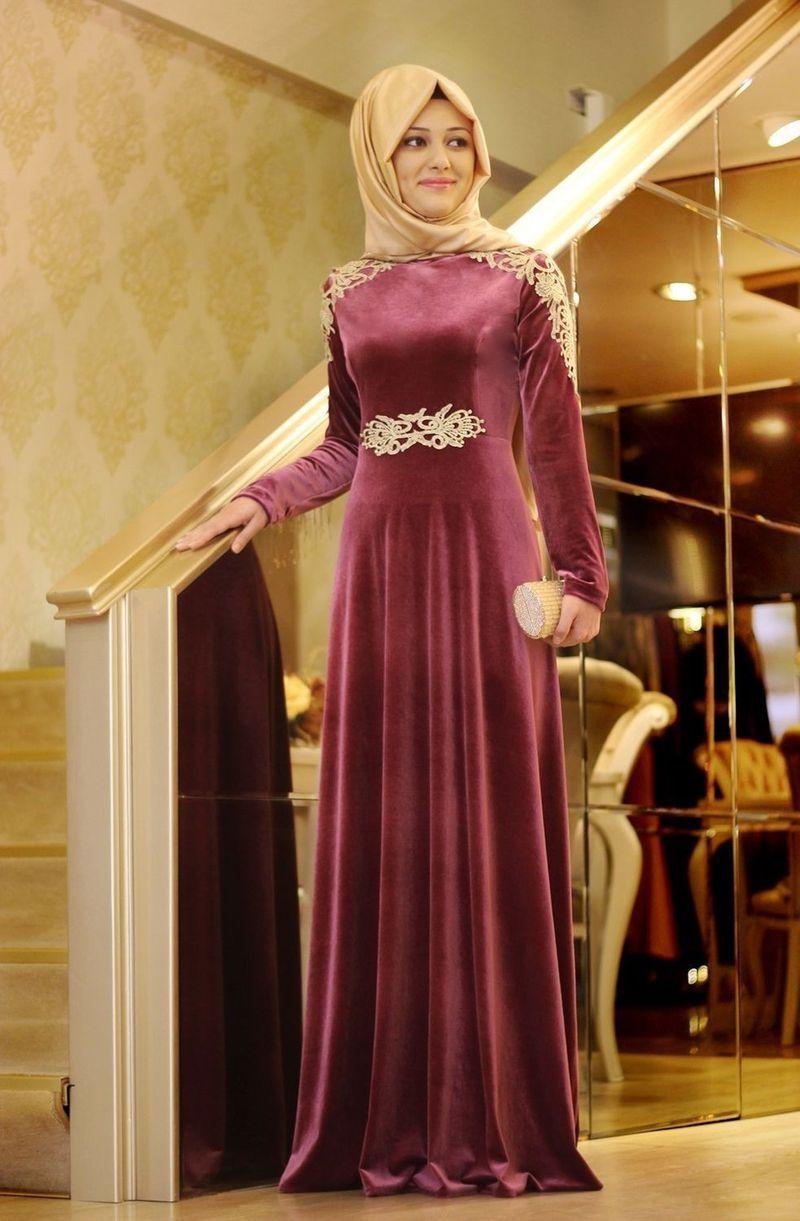 صورة احلى فساتين سواريه للمحجبات , احدث الموديلات لفساتين المحجبات
