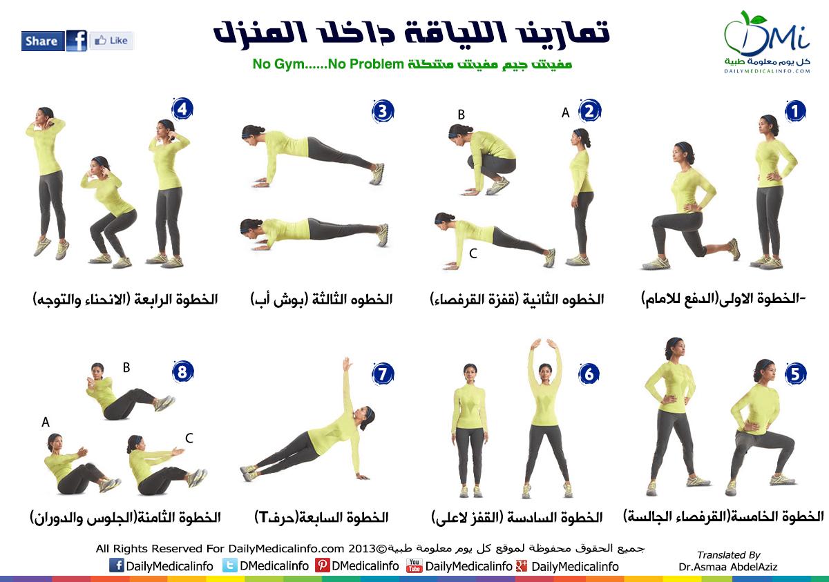 الكارديو اسماء التمارين الرياضية بالصور