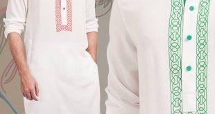 صورة لبس بنجابي رجالي , احدث تصميمات ملابس بنجابي للرجال