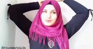 لفات شال عراقية , لقة طرح جميلة للفتاة العراقيه