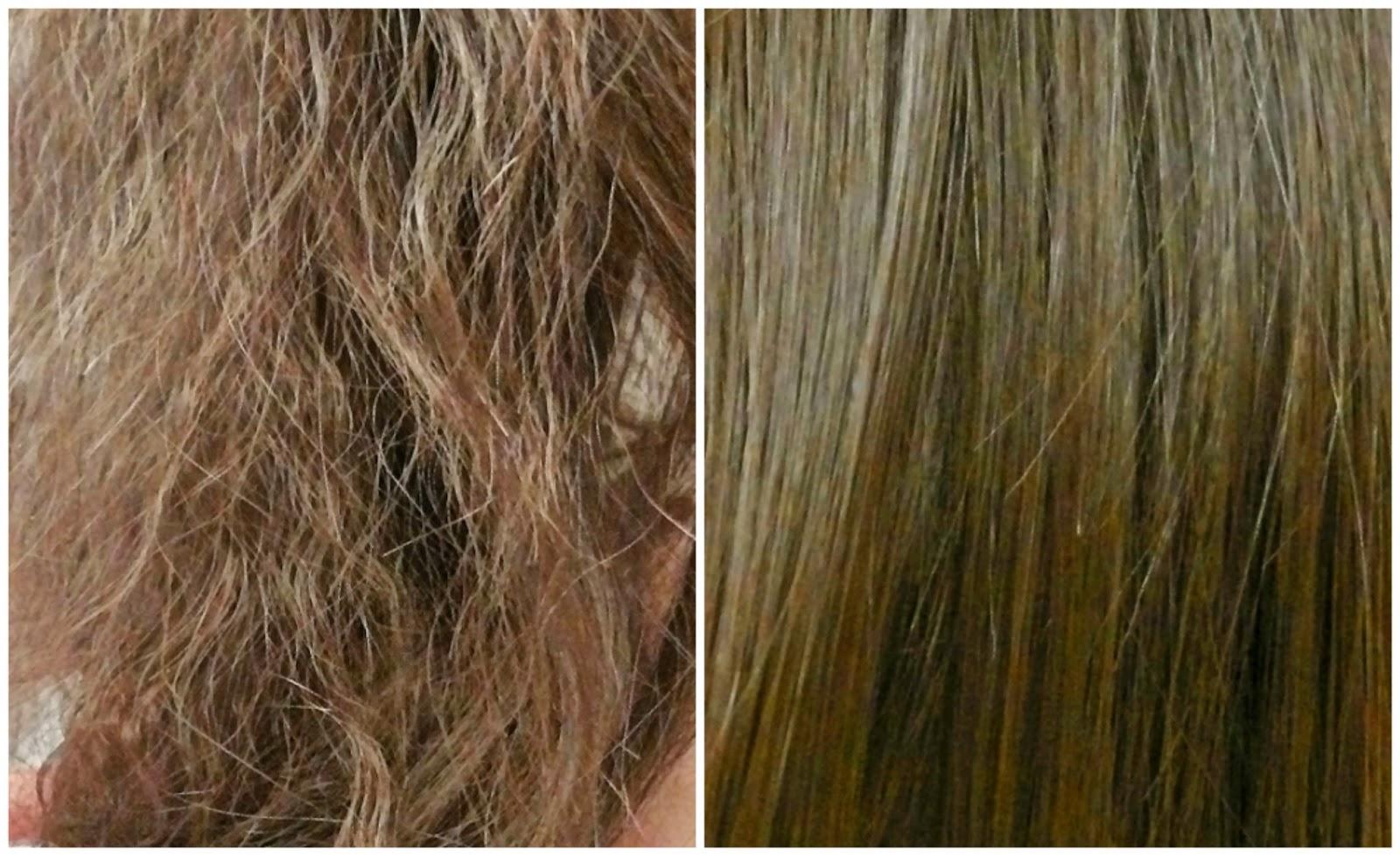 صورة علاج الشعر المتقصف , فرد الشعر بدون مواد كيماوية .