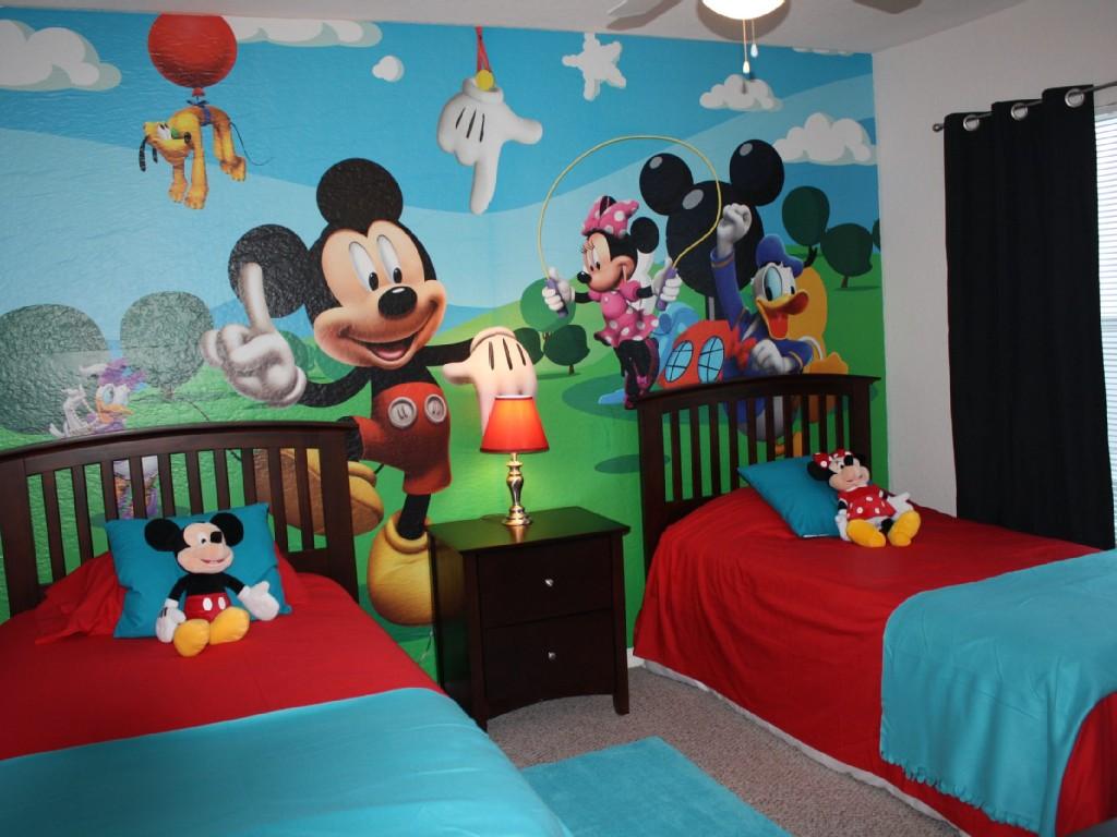 صورة غرف نوم اطفال ميكي ماوس , فاجاى طفلك بهذه الهدية .