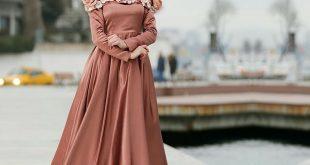 صورة فساتين سواريه للمحجبات , البسي احلى فستان يليق باناقتك وجمالك