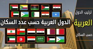 صورة ترتيب الدول العربية من حيث عدد السكان , ادق ترتيب وتنظيم للدول العربية تعرف عليه