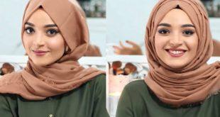 صورة اجمل طرق لف الحجاب , عيشى حياتك والتزمى باساسك وطورى حجابك