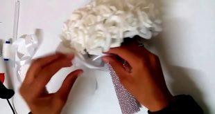 صورة ازاي اعمل بوكية ورد للزفاف جميل وجذاب،طريقة عمل بوكيه ورد للعروسة